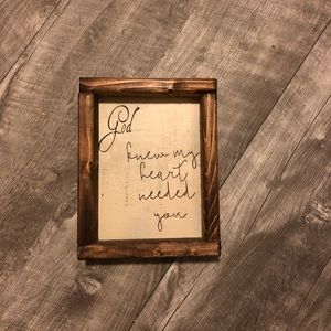 Other - 5x7 wood sign